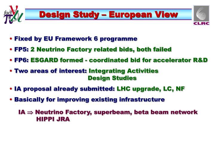 Design Study – European View