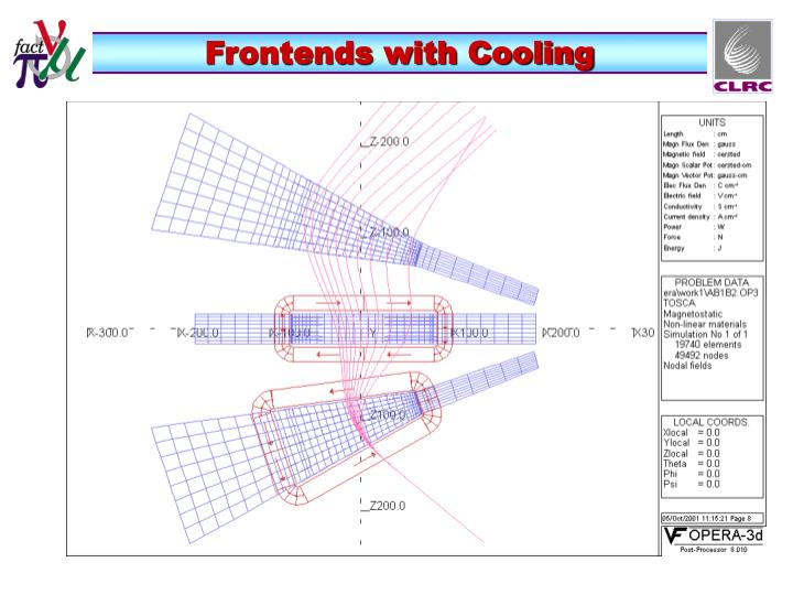 Frontends with Cooling