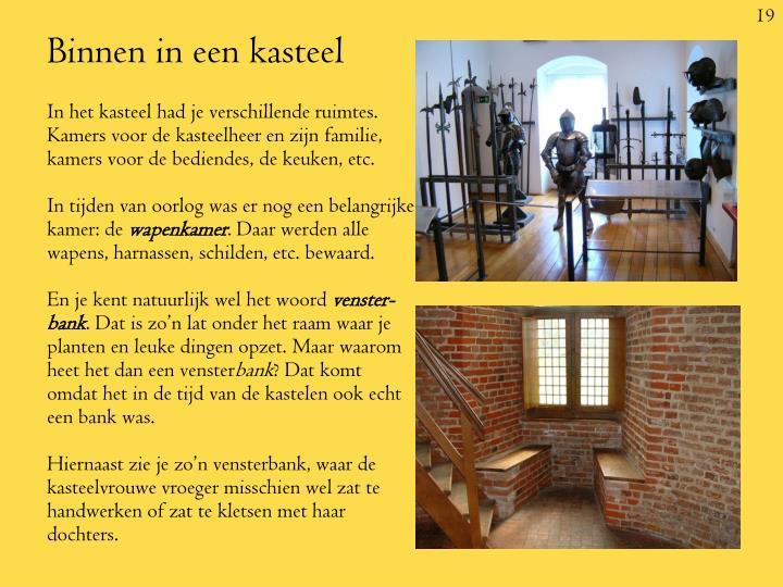 Binnen in een kasteel