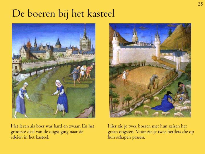 Het leven als boer was hard en zwaar. En het grootste deel van de oogst ging naar de edelen in het kasteel.