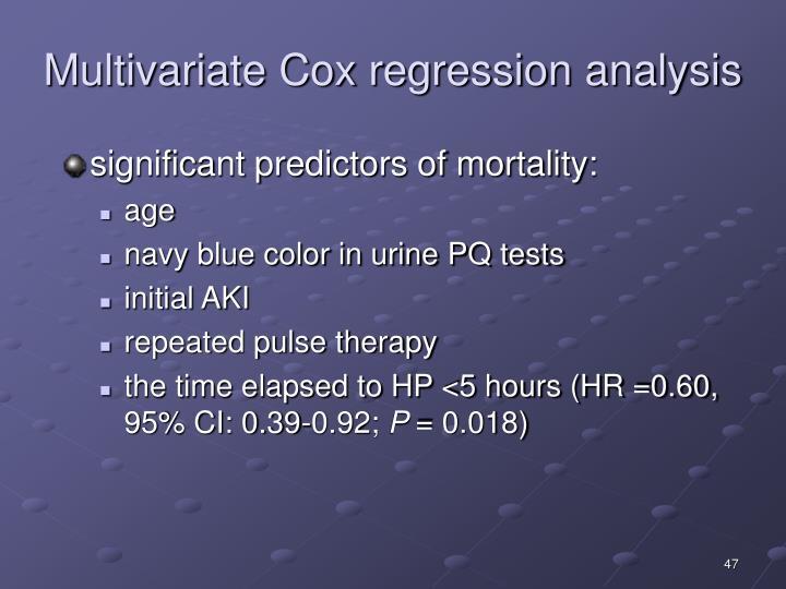 Multivariate Cox regression analysis
