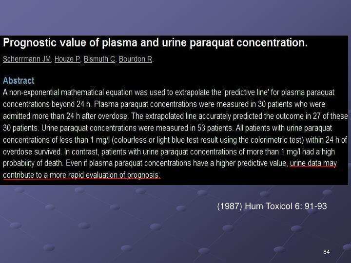 (1987) Hum Toxicol 6: 91-93