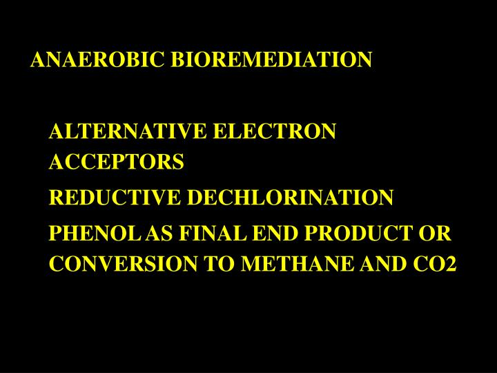 ANAEROBIC BIOREMEDIATION