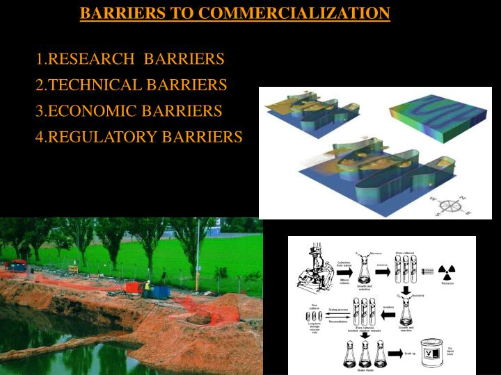 BARRIERS TO COMMERCIALIZATION