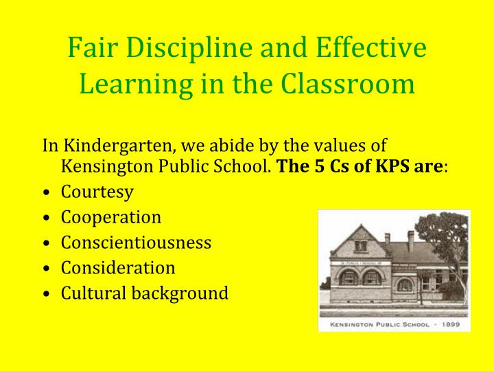 Fair Discipline and Effective Learning in the Classroom