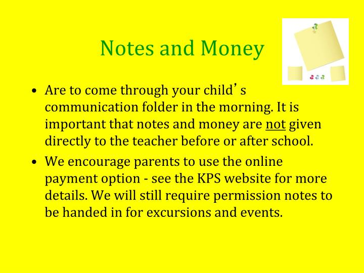 Notes and Money