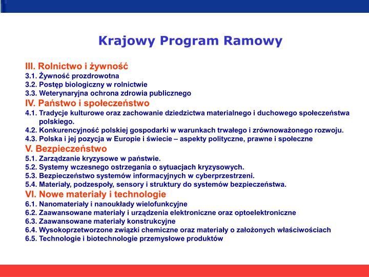 Krajowy Program Ramowy