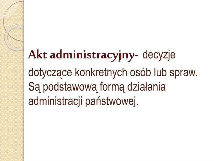 Akt administracyjny-