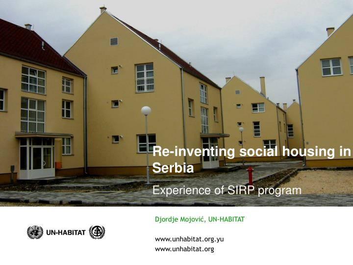 Re-inventing social housing in Serbia