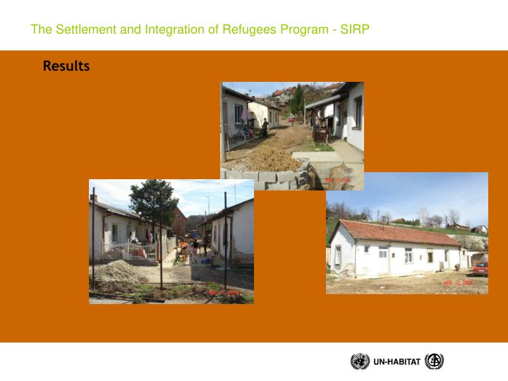 The Settlement and Integration of Refugees Program - SIRP