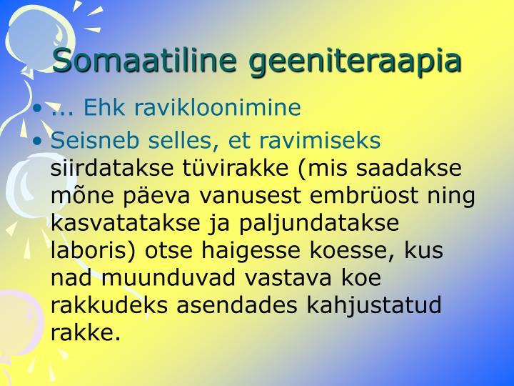 Somaatiline geeniteraapia