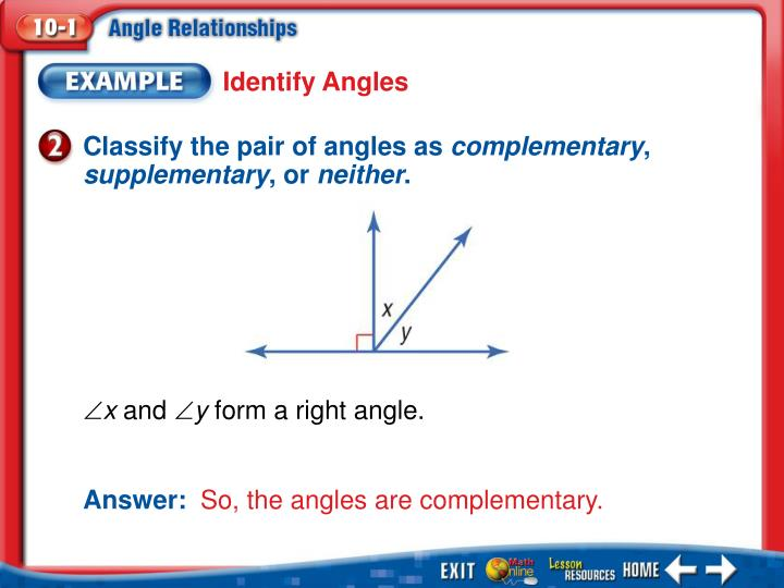 Identify Angles