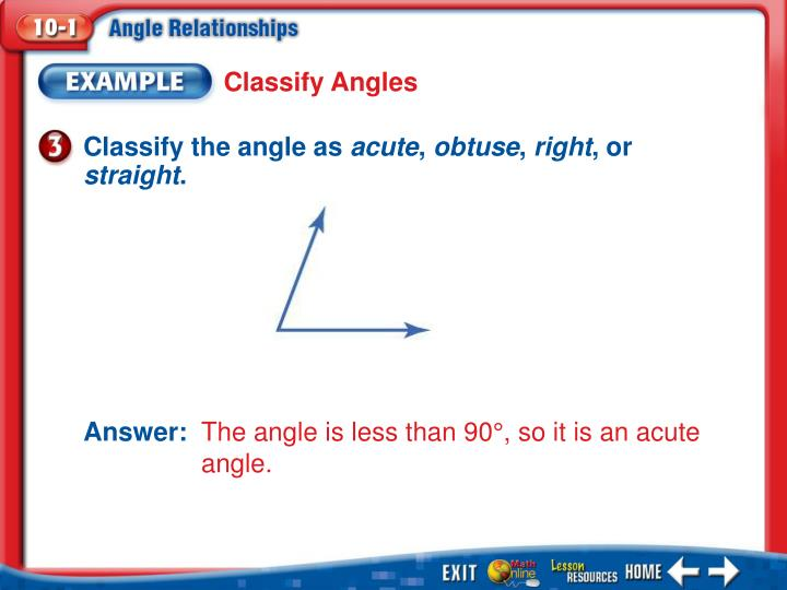 Classify Angles