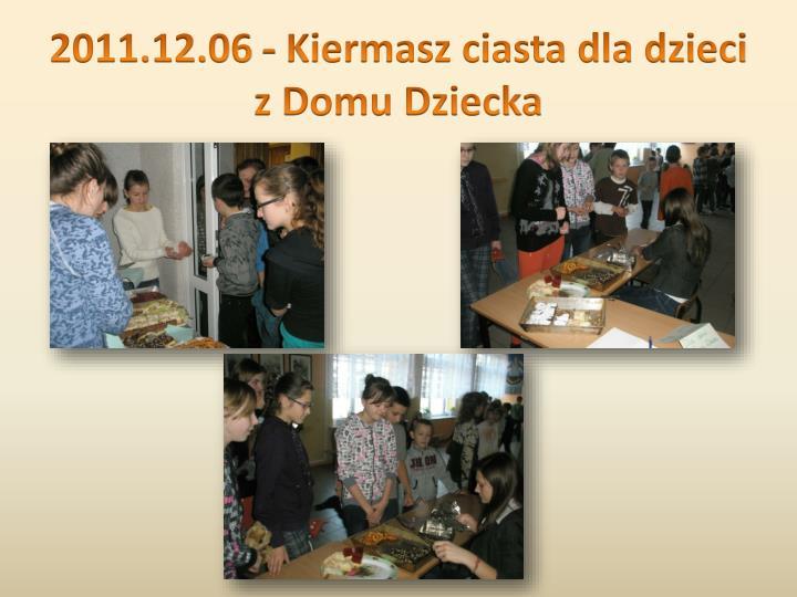 2011.12.06 - Kiermasz ciasta dla dzieci z Domu Dziecka