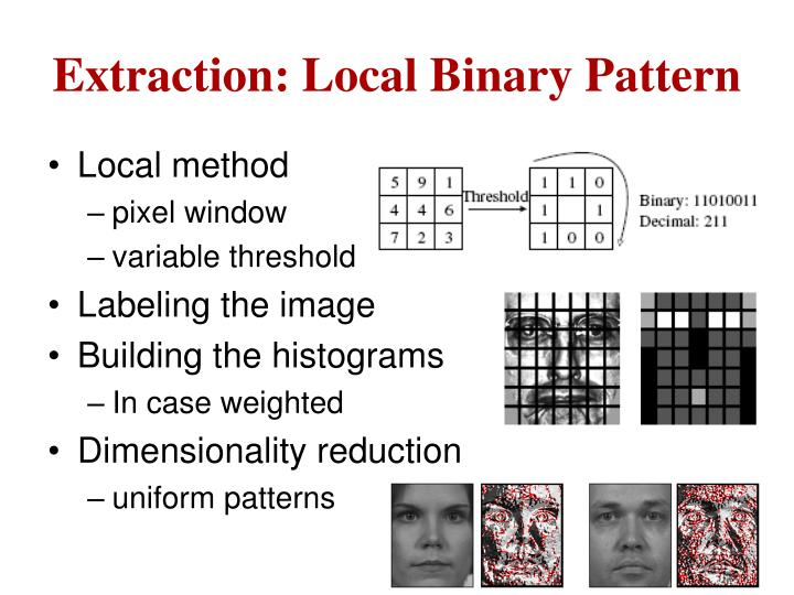 Extraction: Local Binary Pattern