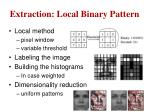 extraction local binary pattern