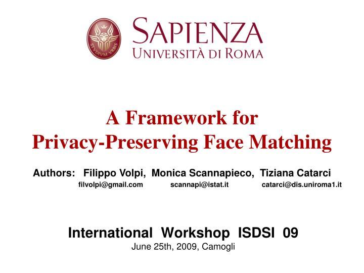 International  Workshop  ISDSI  09