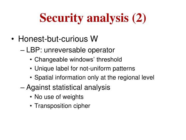 Security analysis (2)