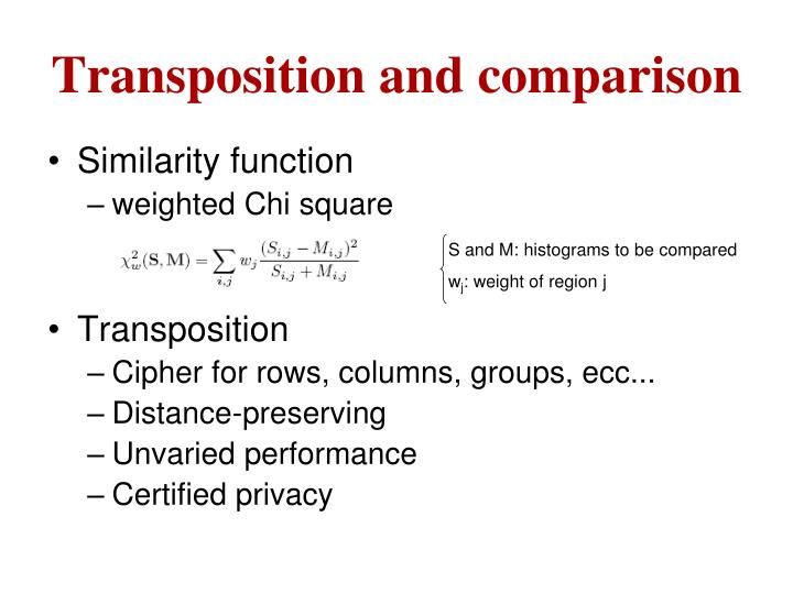 Transposition and comparison