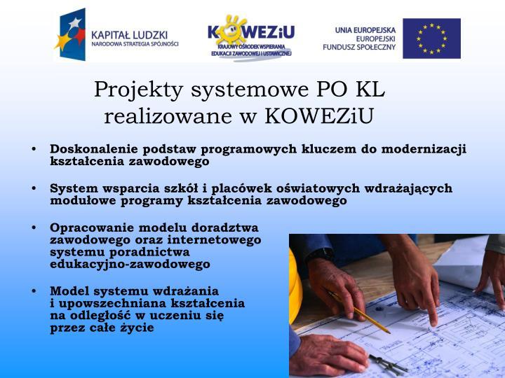 Projekty systemowe PO KL