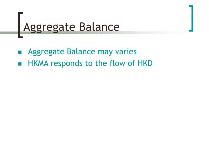 Aggregate Balance