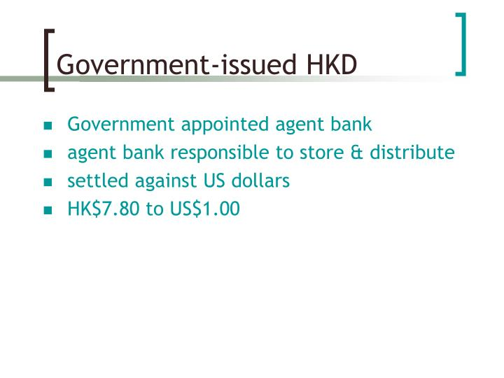 Government-issued HKD
