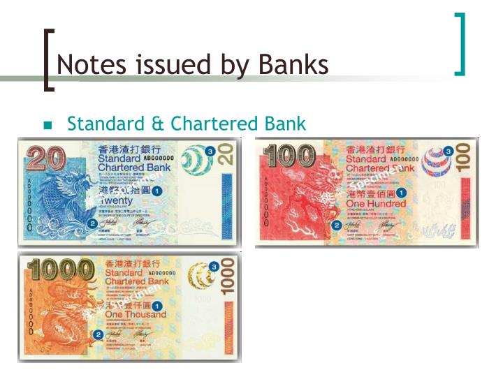 Notes issued by Banks