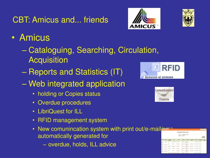 CBT: Amicus and... friends