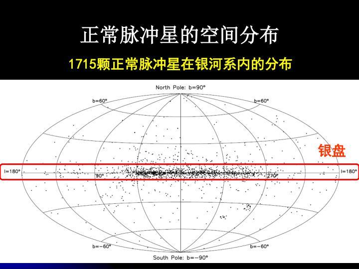 正常脉冲星的空间分布