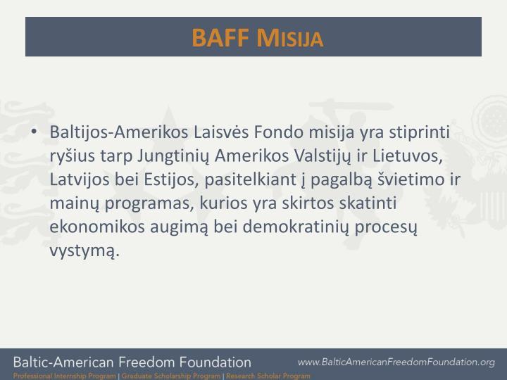 BAFF Misija
