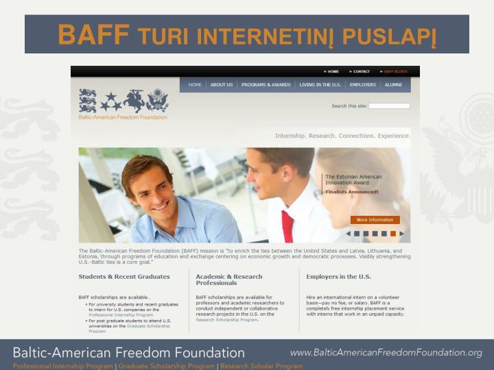 BAFF turi internetinį puslapį
