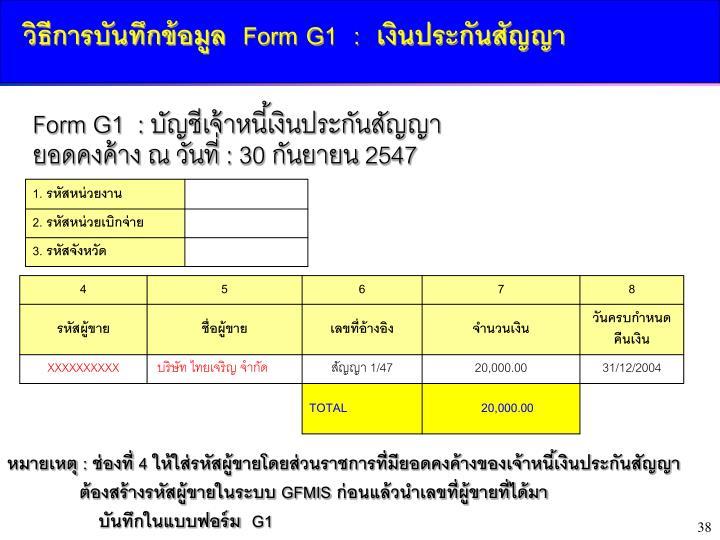 3.2   Form G1  :      G2 :