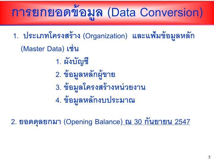 (Data Conversion)