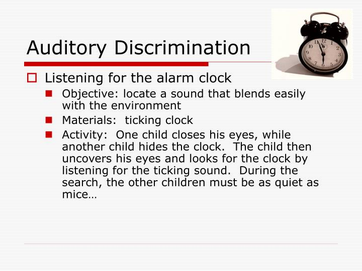 Auditory Discrimination