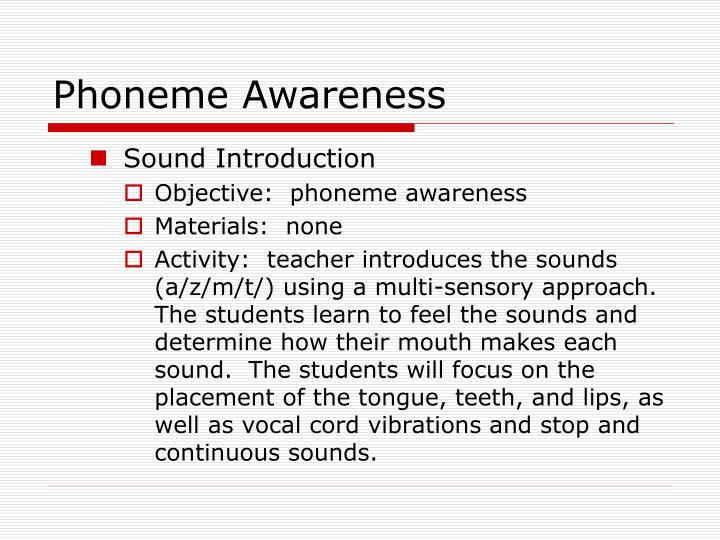Phoneme Awareness