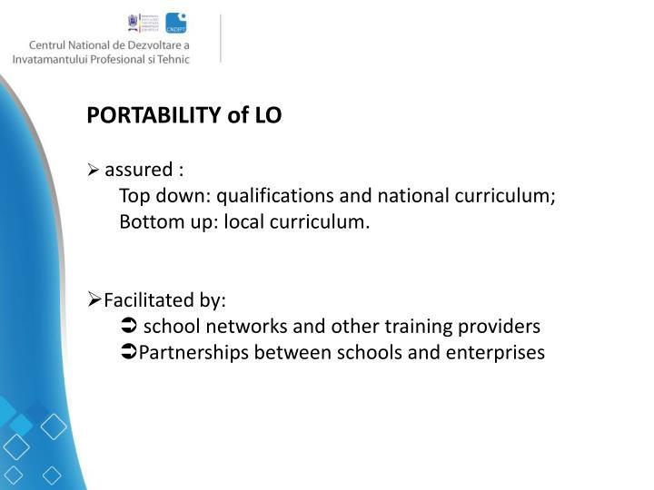 PORTABILITY of LO