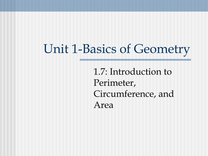 Unit 1-Basics of Geometry
