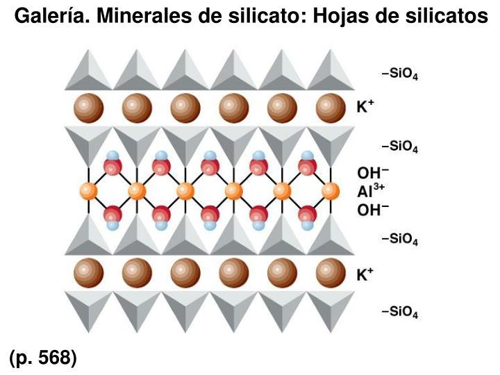 Galería. Minerales de silicato: Hojas de silicatos