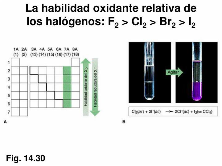 La habilidad oxidante relativa de