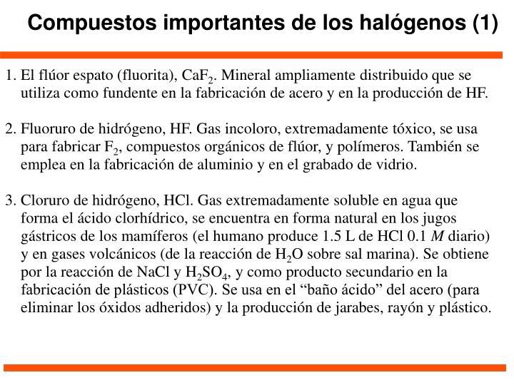 Compuestos importantes de los halógenos (1)