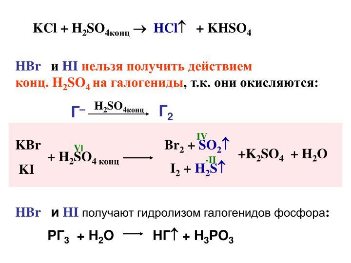 KCl + H