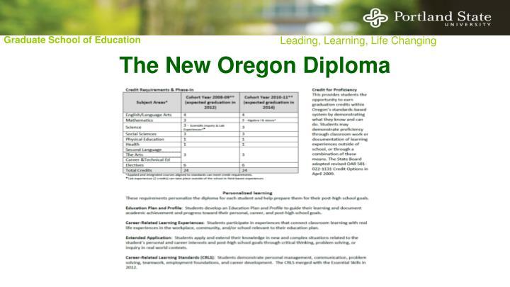 The New Oregon Diploma