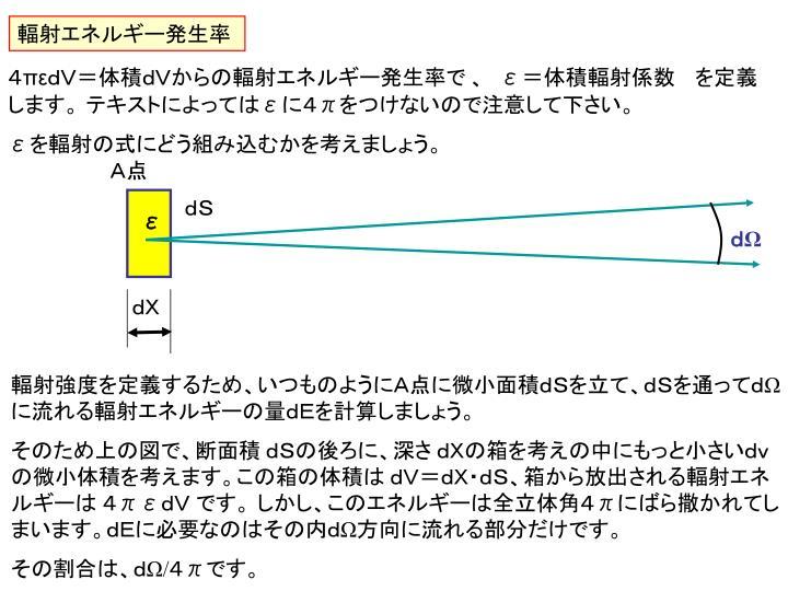 輻射エネルギー発生率