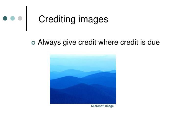 Crediting images