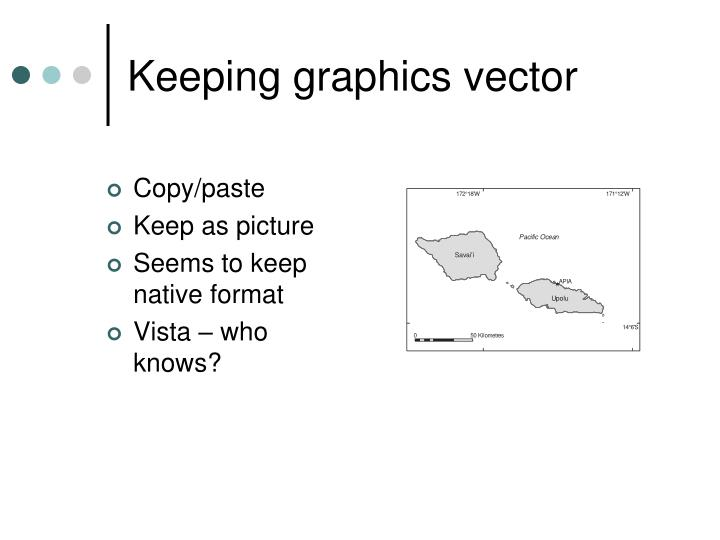 Keeping graphics vector