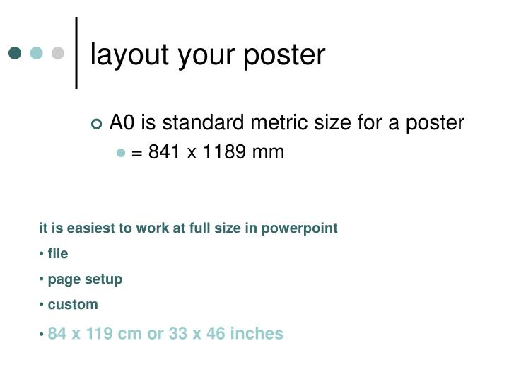 layout your poster