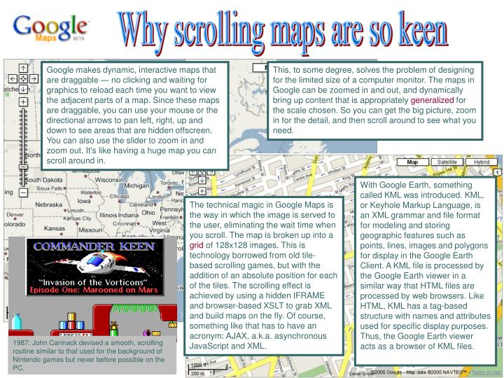 Why scrolling maps are so keen