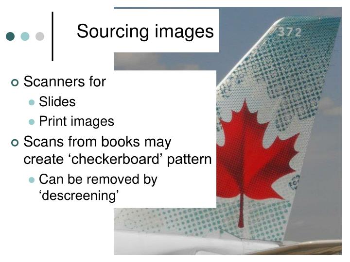 Sourcing images