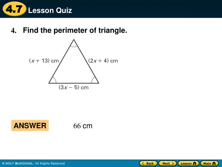 Find the perimeter of triangle.