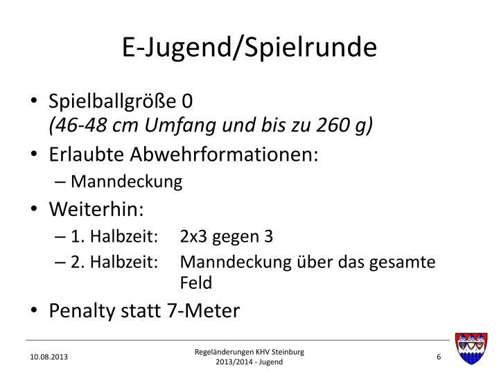 E-Jugend/Spielrunde